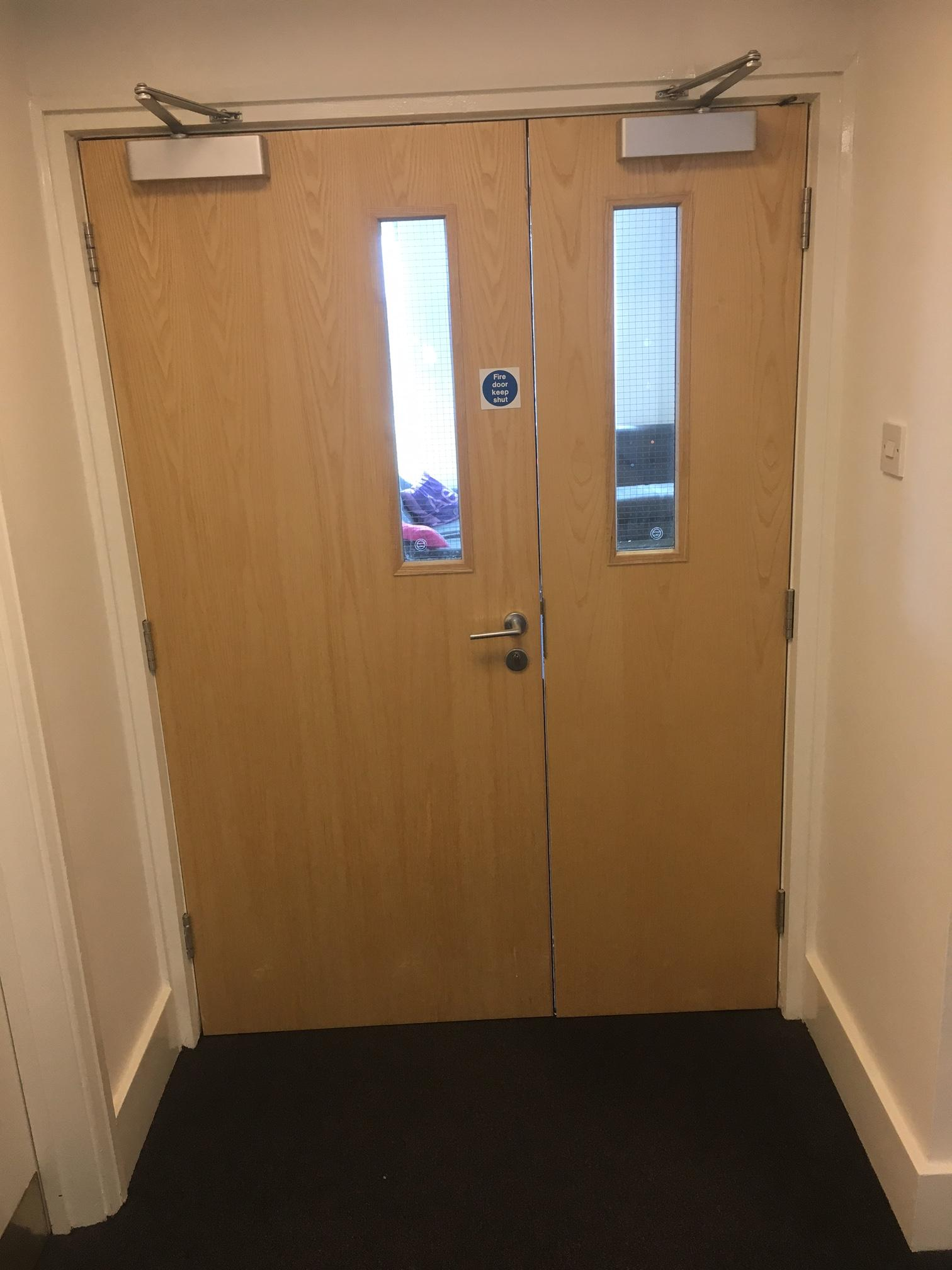 Double Door With Gap In The Middle Fire Doors And Accessories Safelincs Fire