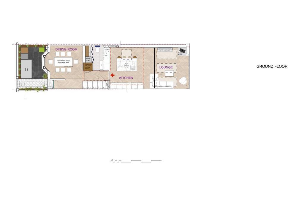 Ground floor plan with red arrow fire door.jpg